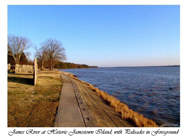 Jamestown - James River with Palisades