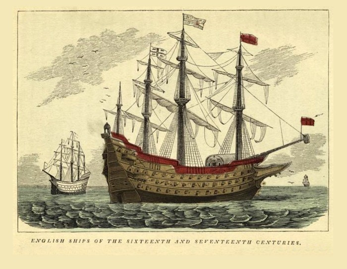 English Ships of 16th and 17th Centuries
