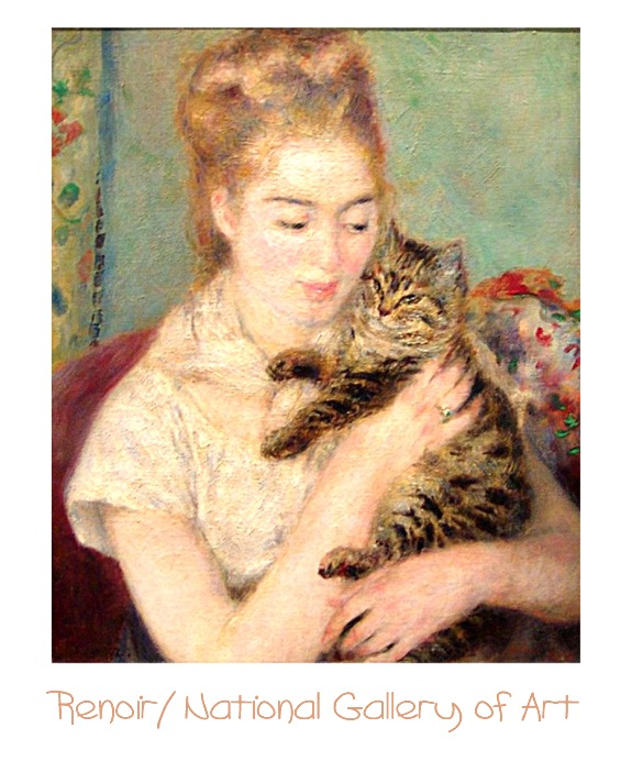 Renoir: Woman with a Cat, National Gallery of Art