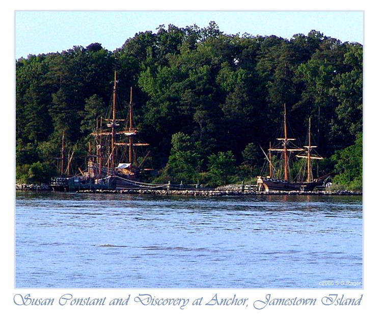 Susan Constant and Discovery at Anchor