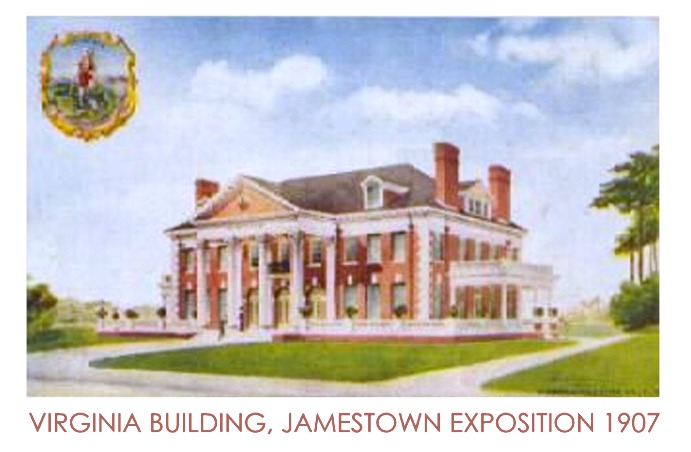 Virginia Building from the 1907 Expo at Jamestown